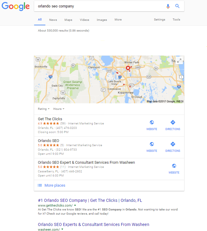 Get The Clicks Orlando's number 1 SEO Company